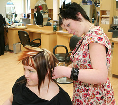 (Vancouver Island University) Tags: ladies girls haircut color beauty hair student women cut mirrors style barber hairdresser hairsalon salon females viu hairdressing myflickr vancouverislanduniversity hairdressingstudent