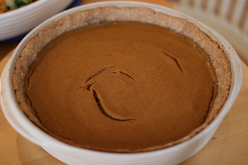 Buttermilk and Pinecones: Pumpkin Walnut Pie with Rolled Oat Crust