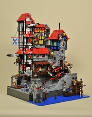 Le Quartier Brique / PTV-Large (Capt. 5p8c3) Tags: village lego pirates pillage