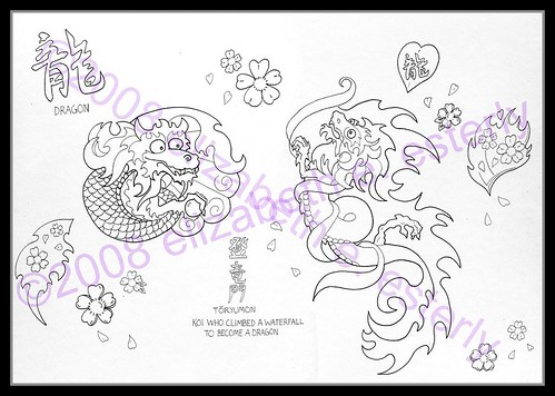 Tattoo Flash: Elizabeth (Set) · Illustration (Group)