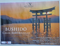 afisul conferintei Bushido