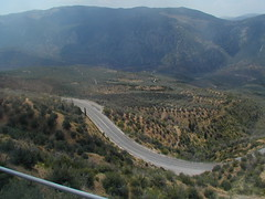 The winding road to our hotel at Delphi