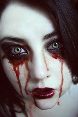 Torment (Sombre Dreams Photography) Tags: blood eyes gothic goth makeup lips dagwanoenyent jeanetteardley
