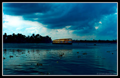 Alappuzha - Rain is coming (kcbimal) Tags: house lake rain boat canal houseboat kerala lagoon canals backwater bimal vembanad alapuzha alappey