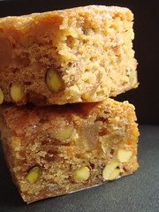 Vegan Pear Ginger Pistachio Blondie