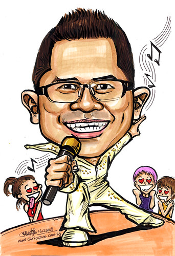 Caricature theme - Singer