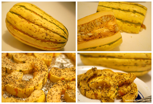 Roasted Delicata Squash Recipe web montage