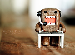 Day Negative One (Dustin Diaz) Tags: monster disco japanese nikon dj dof bokeh rawr domo record nikkor domokun spins featured project365 hbw dustindiazcom d700 2470mmf28g bokehwednesday dedfolio