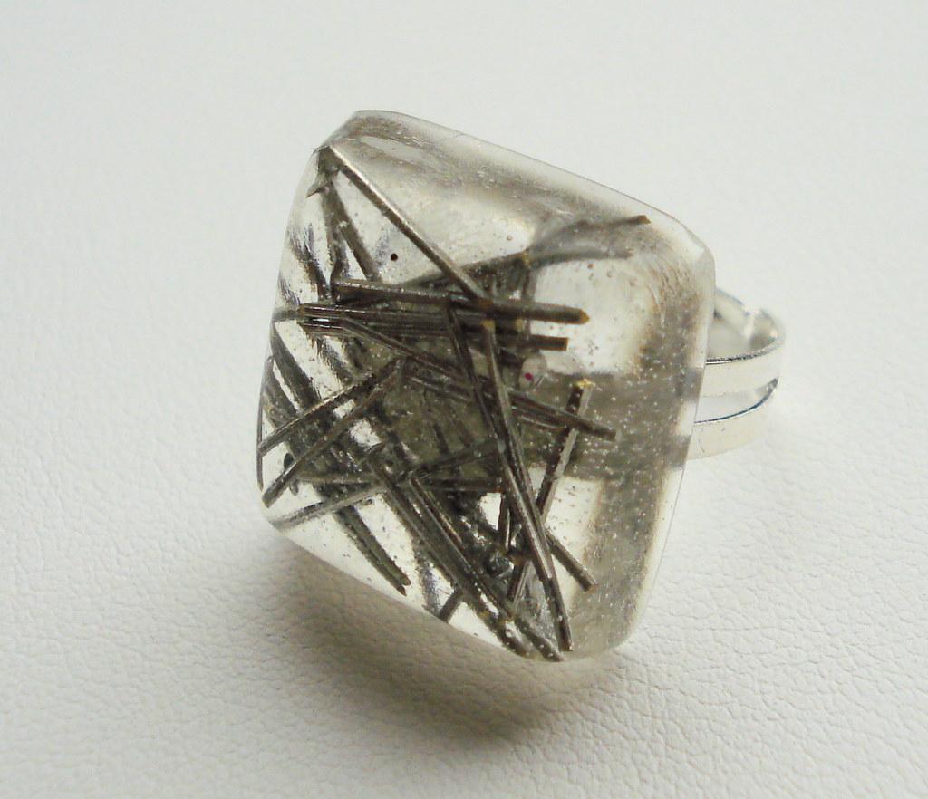 Silver Pin Resin Ring