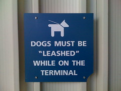 "Dogs Must Be ""Leashed"" While On the Term by scazon, on Flickr"