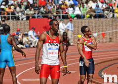 USA vs. the World 4x100 Relay (Starmaker Photos) Tags: black college philadelphia sports field race athletic university track pennsylvania young running run pa penn africanamerican sprint relays sprinter sprinting bopr