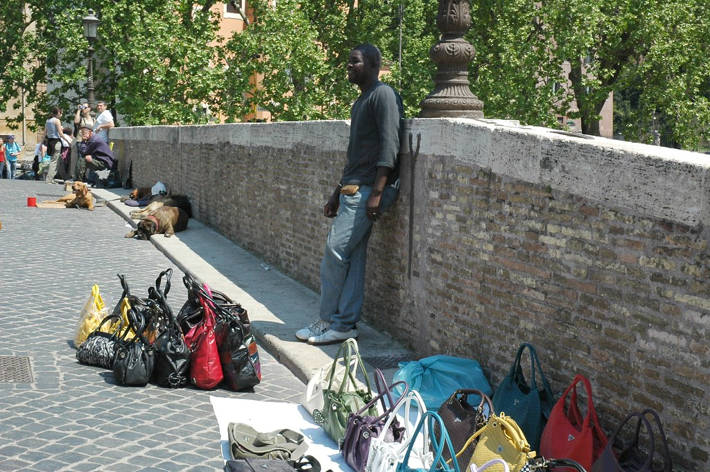 Fake Purses and Handbags in Rome
