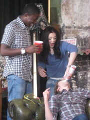 Matt with the Merv and Megan from Skins for Sony Ericsson's Pocket TV (Pocket TV) Tags: skins sonyericsson pockettv mattedmondson