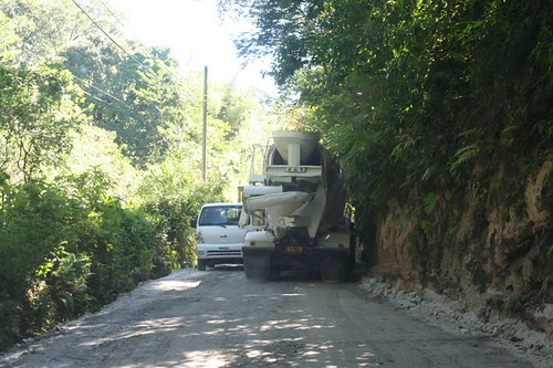 typical traffic delay in Dominica