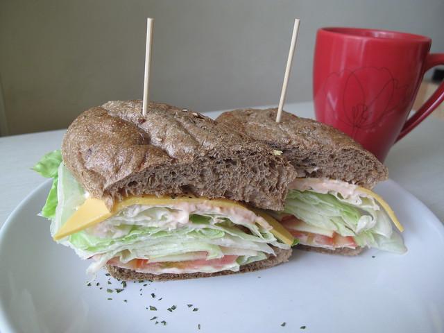 黑麥雜糧三明治