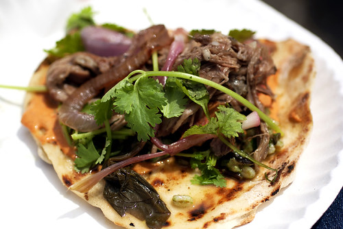 goat flatbread from marlow & sons @ new amsterdam market