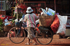 the hard life (The PaPa of Qs) Tags: people bicycle cambodia recycle siemreap flickrtravelaward