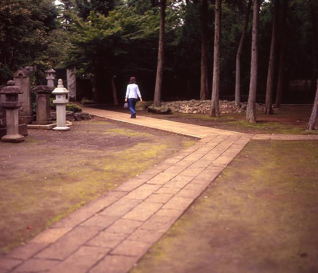 墓地の三叉路