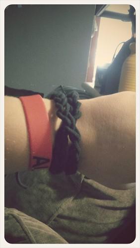 Macrame cord bracelet I made