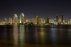 San Diego Skyline (x-ray tech) Tags: california longexposure light reflection building water skyline architecture night composition bay interestingness nice interesting flickr downtown bright sandiego superb iii 8 explore capture hdr highdynamicrange photomatix efs1755mmf28is canoneos60d adobephotoshopcs5
