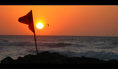 Red Flag (Luz Adriana Villa A.) Tags: sunset red orange sun sol danger canon contraluz de atardecer mar is colombia flag powershot peligro cartagena leva a650 bocagrande luza 10faves agrade mywinners anawesomeshot aplusphoto beautifulcaptures a650is luzavilla
