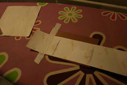 Making PCBs at home, Step 6: Stick print to PCB