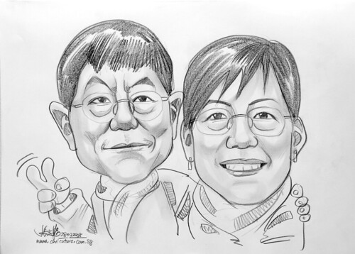 Caricature couple pencil 280208