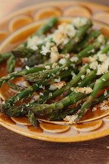 Roasted asparagus breadcrumbs 2