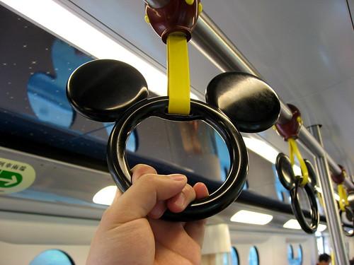 Inside the train of MTR Disneyland Resort line