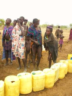 delivering water to the Toposa