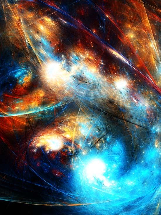 Fractal Art - Cosmic Cluster by Nicholas M Vivian