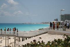 Cancun Beach looking towards the Westin