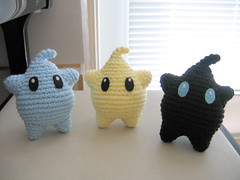 Blue + Yellow + Black (t0fugurl) Tags: toy crochet nintendo mario plush kawaii videogame etsy amigurumi luma