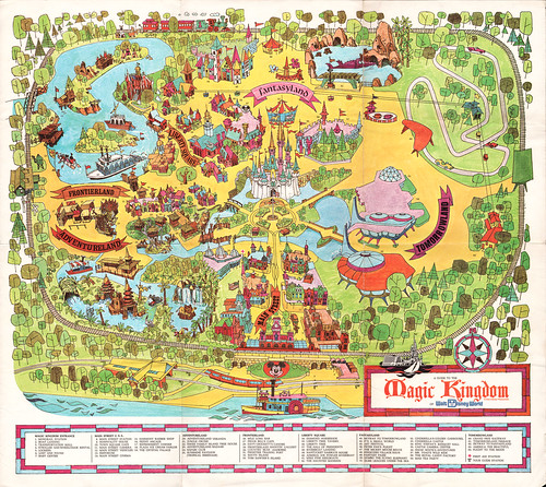 walt disney world florida map. Walt Disney World Souvenir