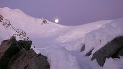 Moonset over Mont Blanc (chaletlaforet) Tags: mountaineering chamonix aiguilledumidi cosmiquesarte