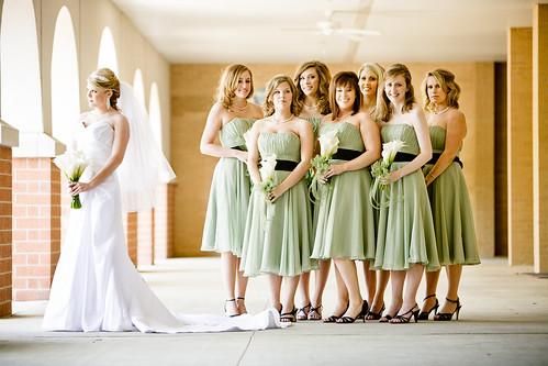 Merritt and her bridesmaids