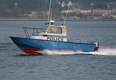 """NYPD Patrol Boat """"30"""" in New York, USA. May, 2008. (Tom Turner - SeaTeamImages / AirTeamImages) Tags: city nyc blue rescue usa newyork water 30 brooklyn port island bay coast harbor boat search marine unitedstates harbour transport shoreline police nypd vessel pony shore maritime transportation law enforcement statenisland bigapple patrol channel finest waterway verrazanonarrows tomturner"""