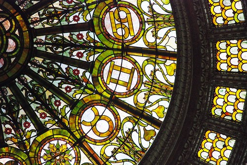 Tiffany Dome restoration: Details. Wow.