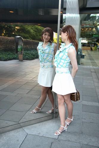 Sleeveless top and White miniskirt_29 by Kyoko Matsushita