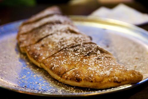 ricotta nutella dessert calzone