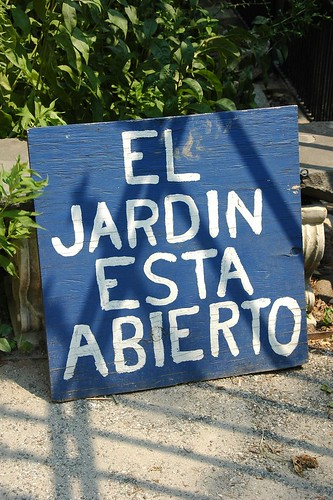 EL JARDIN ESTA ABIERTO
