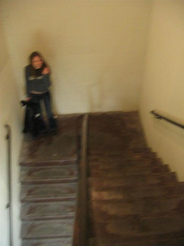 Duffgirl in the stairwell