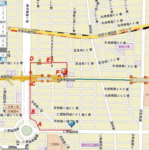 東區散步粉樂町路線MAP0720