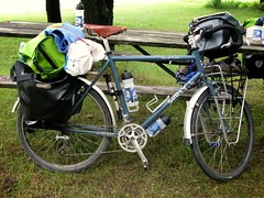 My Long Haul Trucker (j. forest) Tags: camping camp bike canon illinois inch long 26 trucker il zion surly 54 touring axiom brooks ortlieb haul pannier lht g9 54cm