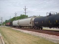 Westbound Canadian National freight train. North Riverside Illinois. June 2007.