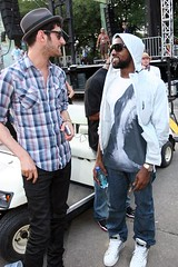kanye and some dude talking