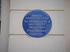Photo of Robert Gascoyne Cecil blue plaque