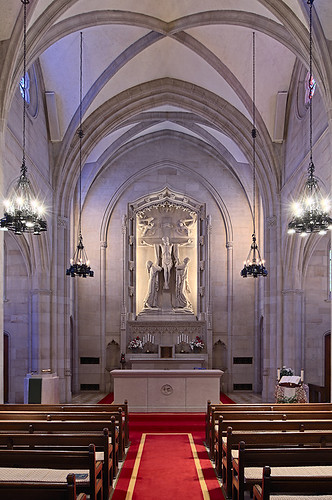 Chapel at Saint Louis University Hospital, in Saint Louis, Missouri, USA - nave small