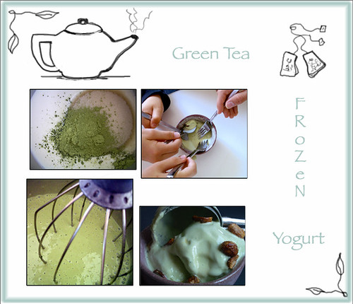 Green Tea Frozen Yogurt Banner