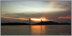 The Bridge (~erwin~) Tags: bridge sunset indonesia batam barelang indonesianphotobloggers 450d 1855is